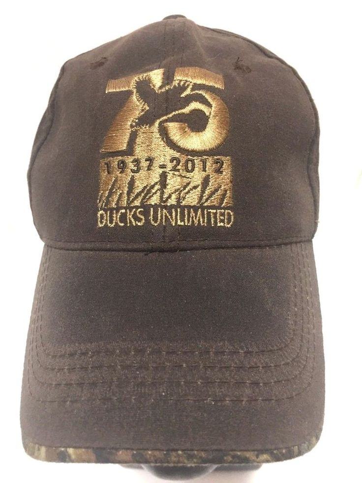 Ducks Unlimited Hat 75th Anniversary 1937-2012 Brown Mossy Oak Trim Cap #OutdoorCap