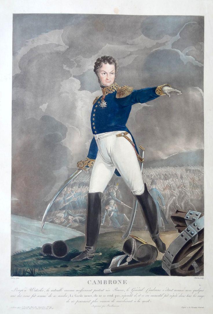 Pierre Cambronne (né le 26 décembre 1770 à Nantes et mort dans la même ville le 29 janvier 1842) - Général de division et maréchal de camp - gravé par Charon d'après Aubry et imprimé par Prudhomme - MAS Estampes Anciennes - Antique Prints
