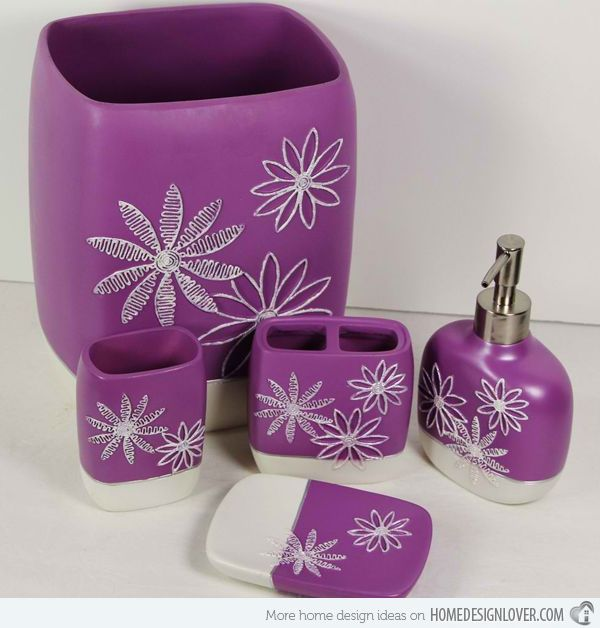 15 Elegant Purple Bathroom Accessories - Best 25+ Purple Bathroom Accessories Ideas On Pinterest Purple