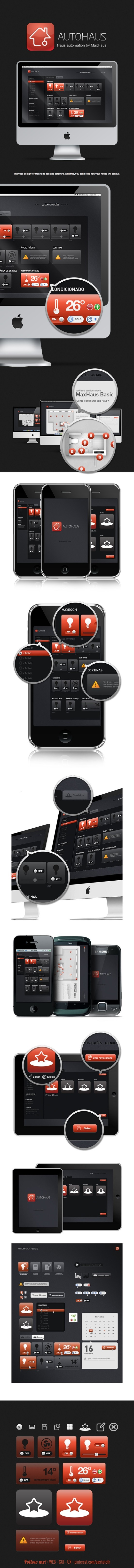 AutoHaus - Interface by Anderson Mancini, via Behance *** #gui #ux #ui #iphone #android #web #behance