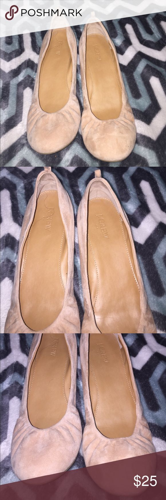 J.Crew Blush Ballerina Slippers Only worn once and in perfect condition... must have new blush color. 😍STUNNING🔥 J. Crew Shoes