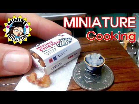 미니어쳐 진짜요리!! 반반치킨!! (맛봄ㅋㅋ) Miniature Real Cooking - Fried Chicken - YouTube