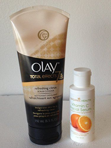 Oil of Olay Face Wash Total Effects Citrus Facial Cleanser 65 Oz with Organic Health Vitamin C Face Lotion 2 Oz Bundle >>> This is an Amazon Affiliate link. Want to know more, click on the image.