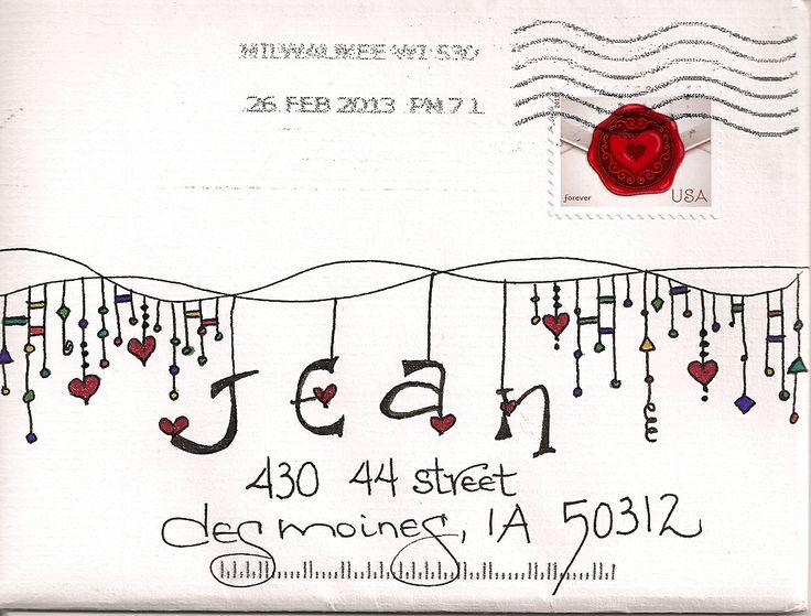 Nice Zenspirations Dangle Design envelope!