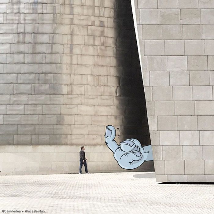 Illustrator Adds Funny Cartoons To Strangers' Instagram Photos (Part 3)