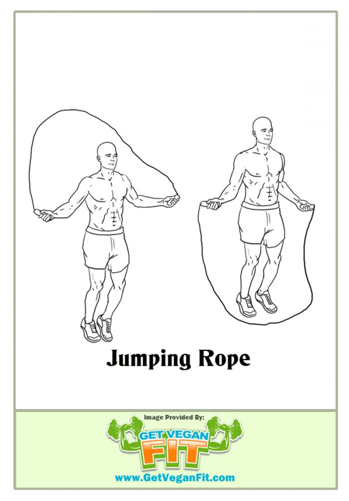 Jumping Rope Heart Pumping Cardio Exercise Illustration