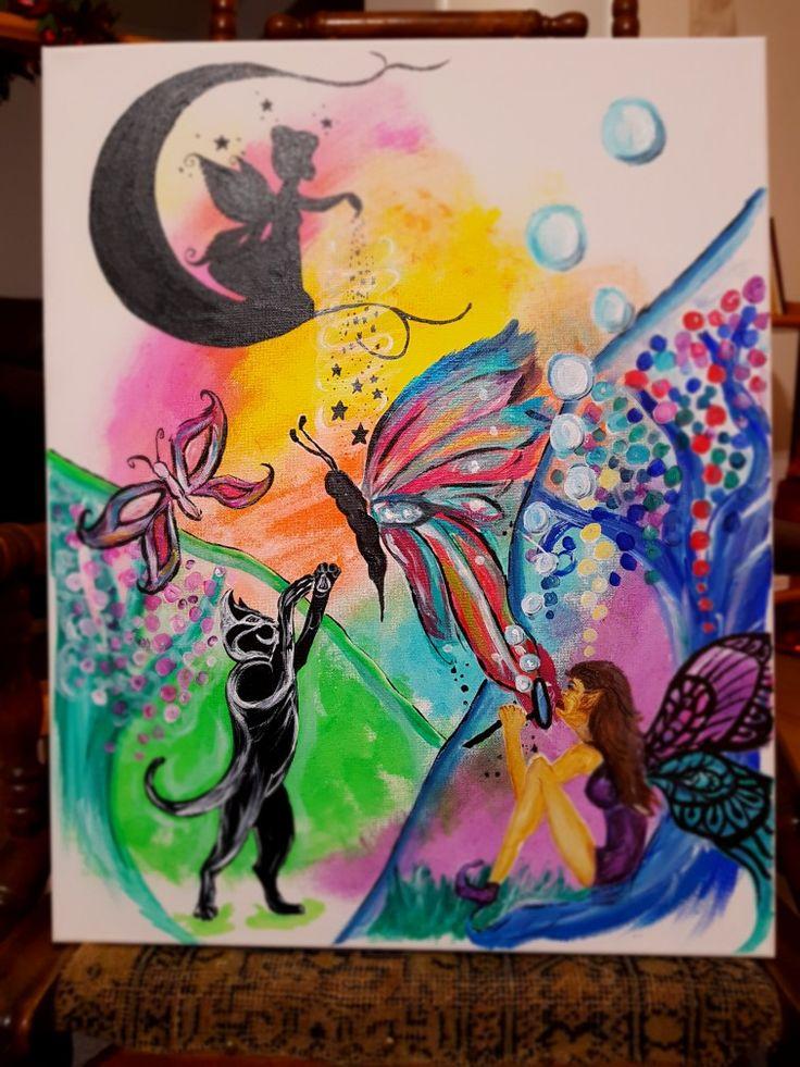 Fairy acrylic painting