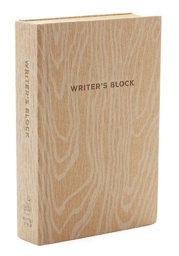 Writer's Block - Rustic, Good, Tan - Stuck on what to gift your wordsmith pal? Look no further than this cheeky journal. Designed to mimic a block in the most literal of senses, this book boasts a wood grain texture and over 300 blank pages - providing plenty of inspiration for flowing creativity!