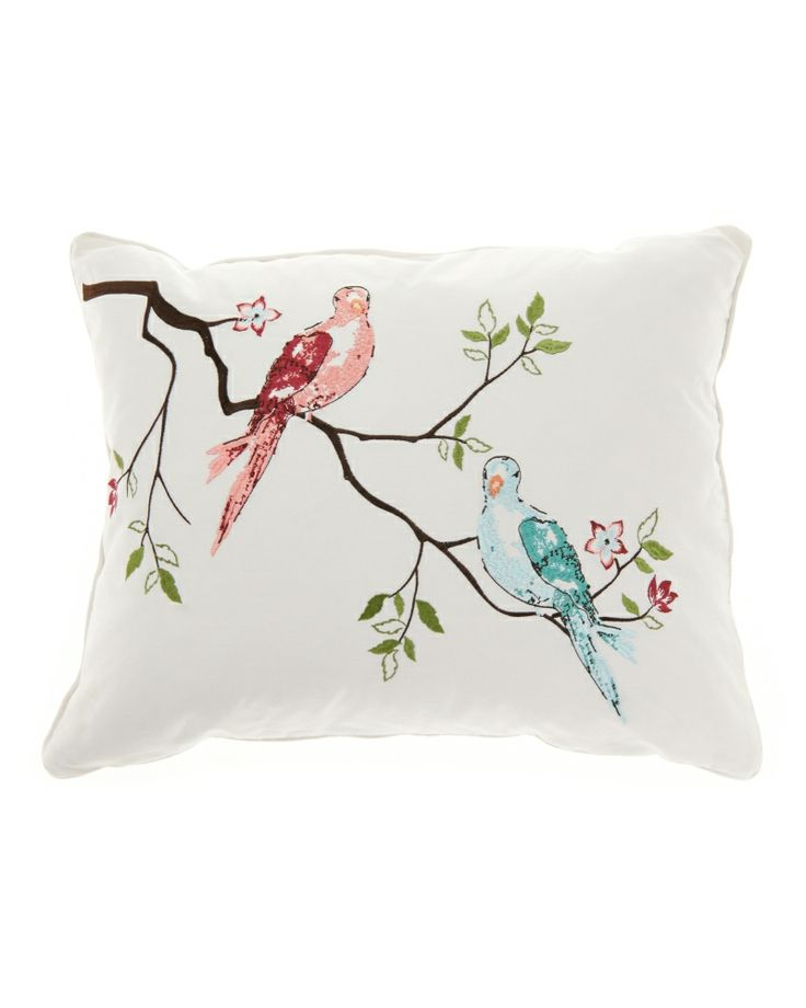 Luxury Decorative Pillow Collection : Nina Home at Stein Mart - Aubree birds decorative pillow Stein Mart Faves! Pinterest ...