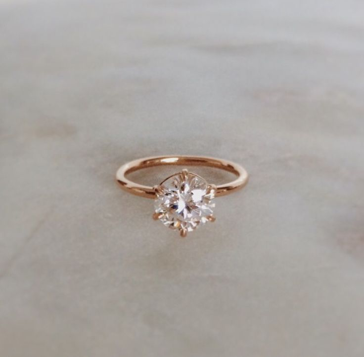 1.53 carat diamond in a 6-claw rose gold setting // Natalie Marie Jewelry, Sydney