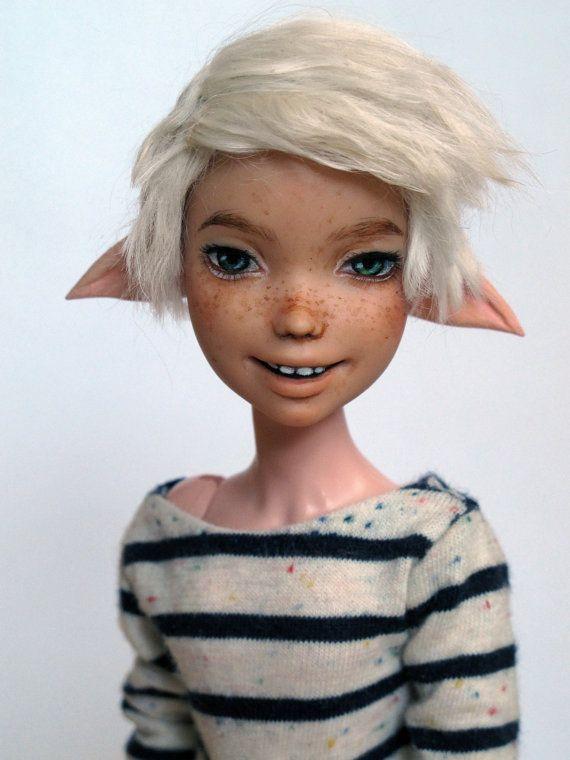 Monster High hybrid elf boy ooak, theWhandigo