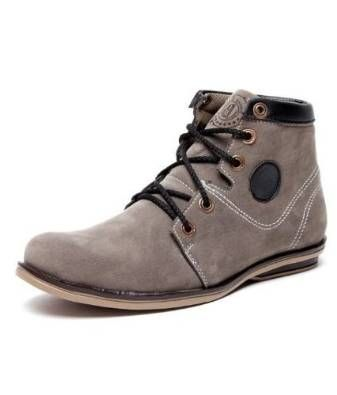 Bacca Bucci Mens Shoe Bacca Bucci Grey Suede High Ankle Boots