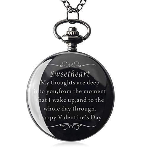 Samuel Personalized Gifts for Boyfriend Valentine's Day Gift for Boyfriend Men for Boyfriend Engraved Pocket Watch with Gift Box (Sweetheart)