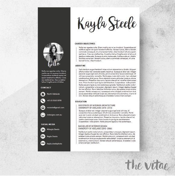 8 best SMAD201 Visual Resume Design images on Pinterest | Cv ...