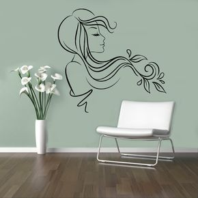 Hair Salon Vinyl Decal Beauty Salon Wall by USAmadeproducts