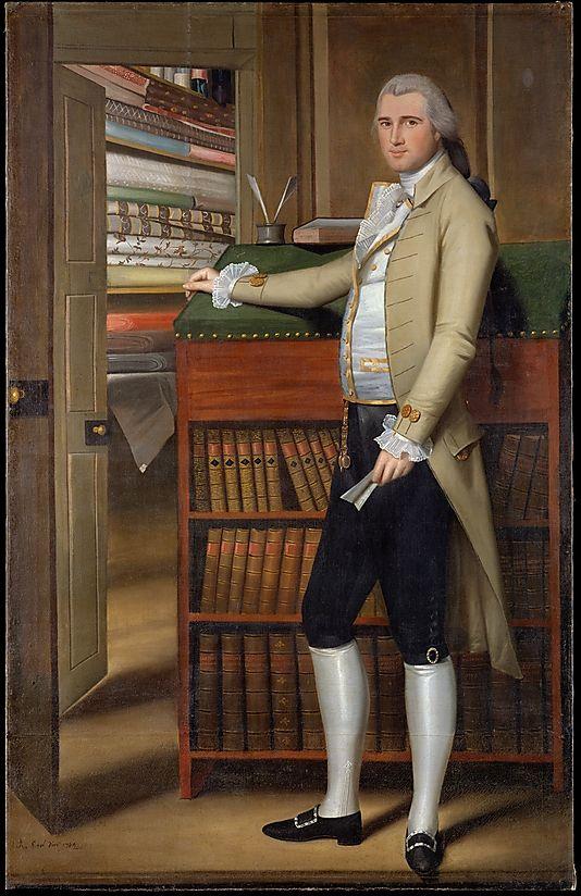 Bandanno fabric in storeroom - Elijah Boardman, Ralph Earl, 1789; MMA 1979.395