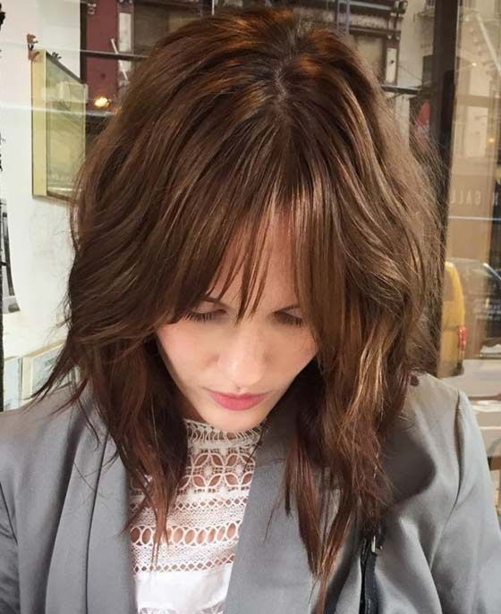 Image Result For Long Layered Hair With Bangs