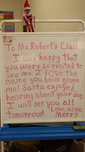 Classroom Elf on the Shelf!