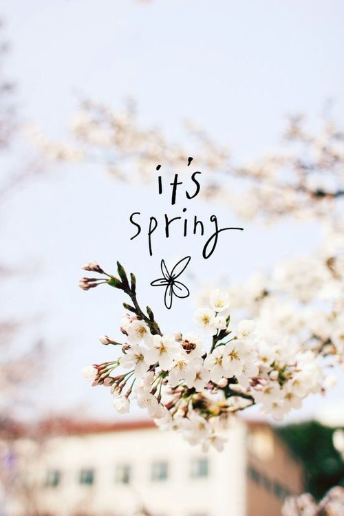 It's spring yes!