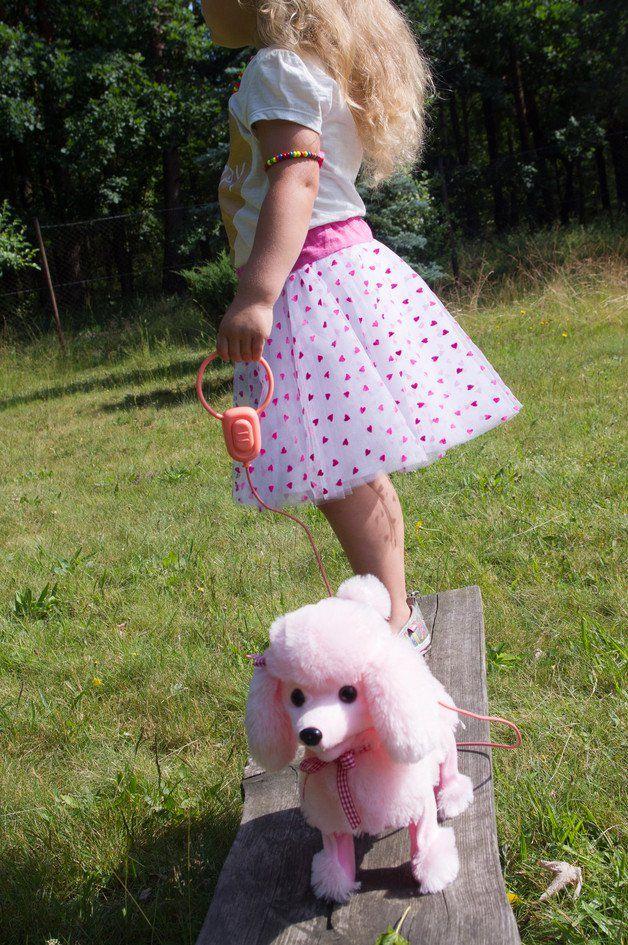 Spódniczki dla dziewczynek - Spódniczka tiulowa serduszka rozm. 2-3 latka - ein Designerstück von Bobelito bei DaWanda