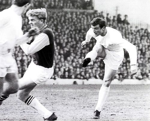 16th October 1965. Paul Madeley in action against Northampton Town at Elland Road.