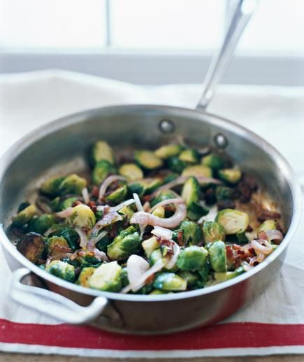 Sautéed Brussels Sprouts With Bacon and Raisins