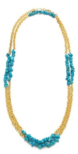 Kenneth Jay Lane Stone & Chain Interval Necklace   SHOPBOP