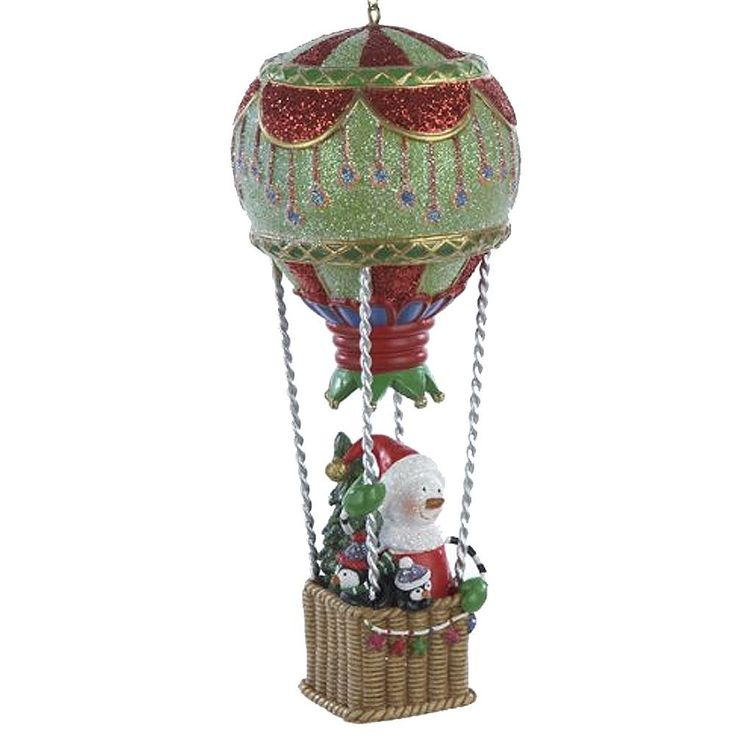Amazon.com: Snowman in Hot Air Balloon Christmas Ornament C8483-A Kurt Adler: Home & Kitchen