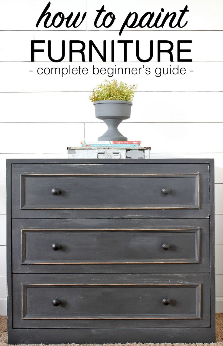 Learn how to paint furniture to give old pieces new life. This step by step guide will walk you through everything you need to know.