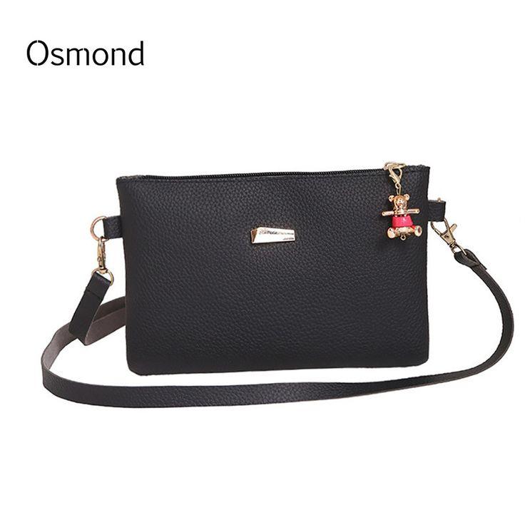Osmond New Small Shoulder Bag Black Strap Phone Bag Mini Handbag Purse  Envelope Clutch Bag Women