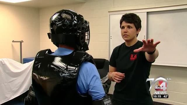 OGDEN, UTAH (ABC4UTAH) Law enforcement officers serve and protect. But for a Weber County Deputy - serving and protecting - includes something different. You see - in addition to patrolling the streets and helping in schools, she is a self defense instructor. And she has a goal to train thousands of women. Here's this week's Behind the Badge report.  We recently attended a self defense class where CorporalSherida Malan put students through self defense drills. The drills are p...