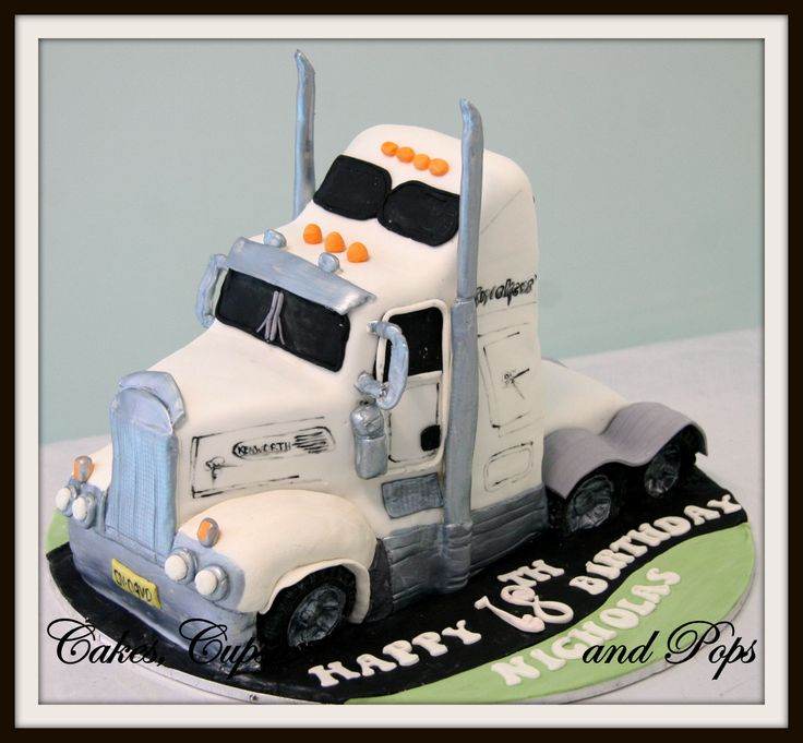 Flat Bed Truck Cake