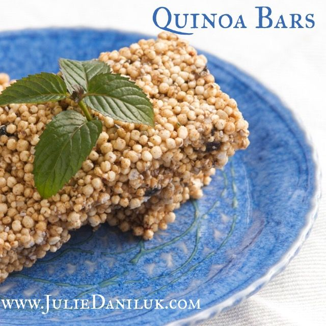 Gluten Free Quinoa Bars by JulieDaniluk.com