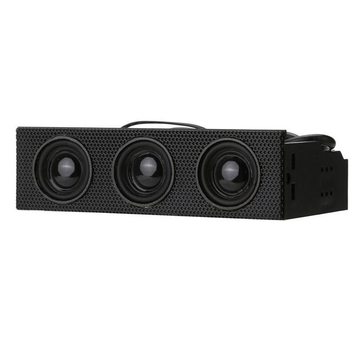 "[Visit to Buy] STW 9005 5.25"" Stereo Surround Speaker PC Front Panel Computer Case Built-in Mic Music Loudspeakers #Advertisement"