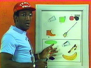 Picture Pages w/ Bill Cosby.  I always wanted the pen until I found out it wouldn't make the noise when I drew with it. :(