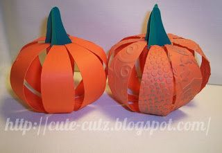 Free SVG 3D DIY pumpkins Cute-cutzSVG Harvest, Fall, Autumn