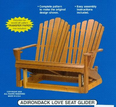 Adirondack Glider Chair Woodworking Plans Woodworking