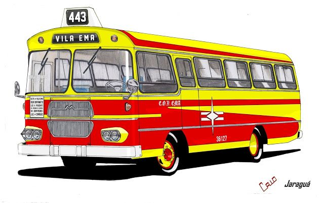Will.Bus: Caio Jaraguá / Mercedes-Benz LPO 344 - (SP) Empresa de Ônibus Vila Ema Ltda. (Década de 60)