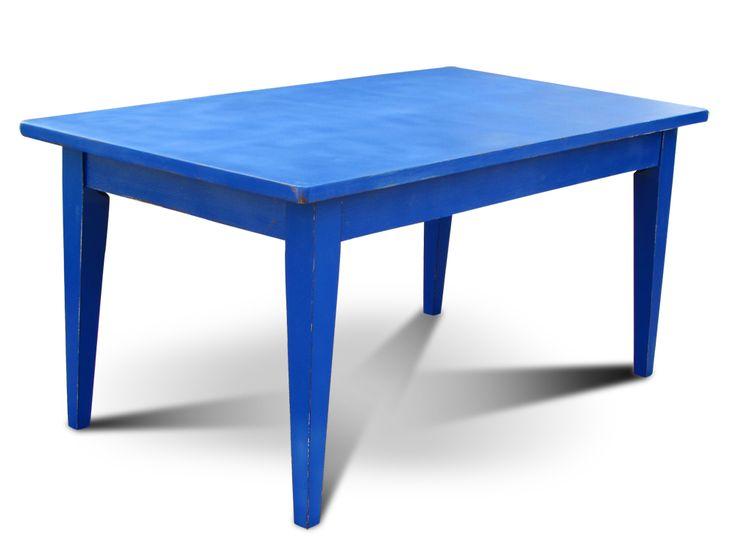 стол обеденный синий состаренный