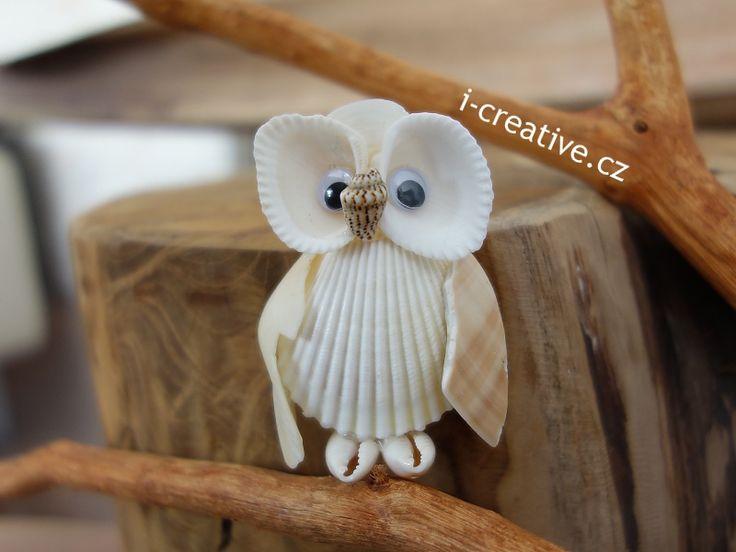 Seashell crafts. Tvoření z mořských mušlí.