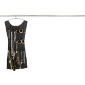 This is a pretty clever solution for organizing jewelry. Found it at Wayfair - Little Black Dress Hanging Jewelry Organizer