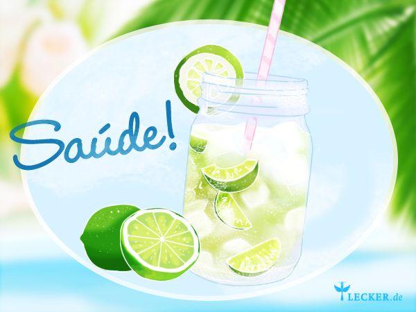 Cocktail-Klassiker: Caiprinha ist der Bestseller jeder Happy Hour. Wir zeigen , wie der brasilianische Drink aus nur 4 Zutaten gemixt wird. Saúde!
