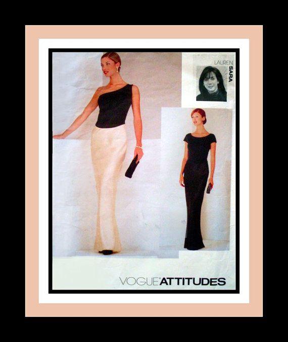 Vintage 1997-STUNNING EVENING GOWN -Vogue Designer Sewing
