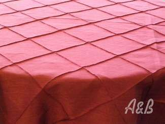 Red Pintuck Tablecloth