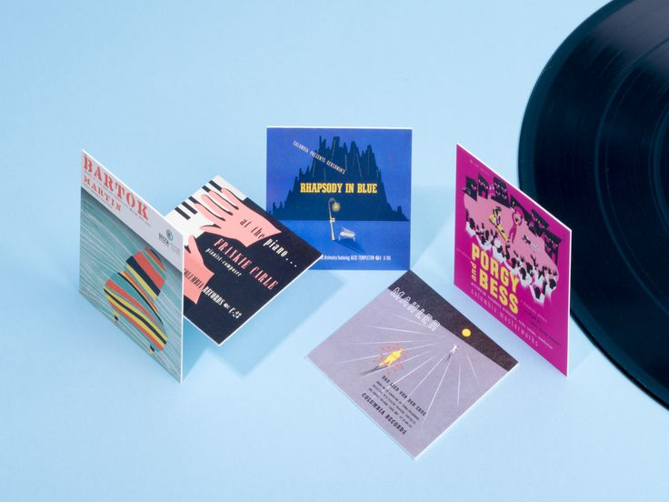 A selection of album cover designs by Alex Steinweiss - presented on MOOcards.