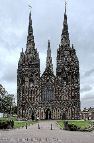 Lichfield Cathedral, Staffordshire, England - UK