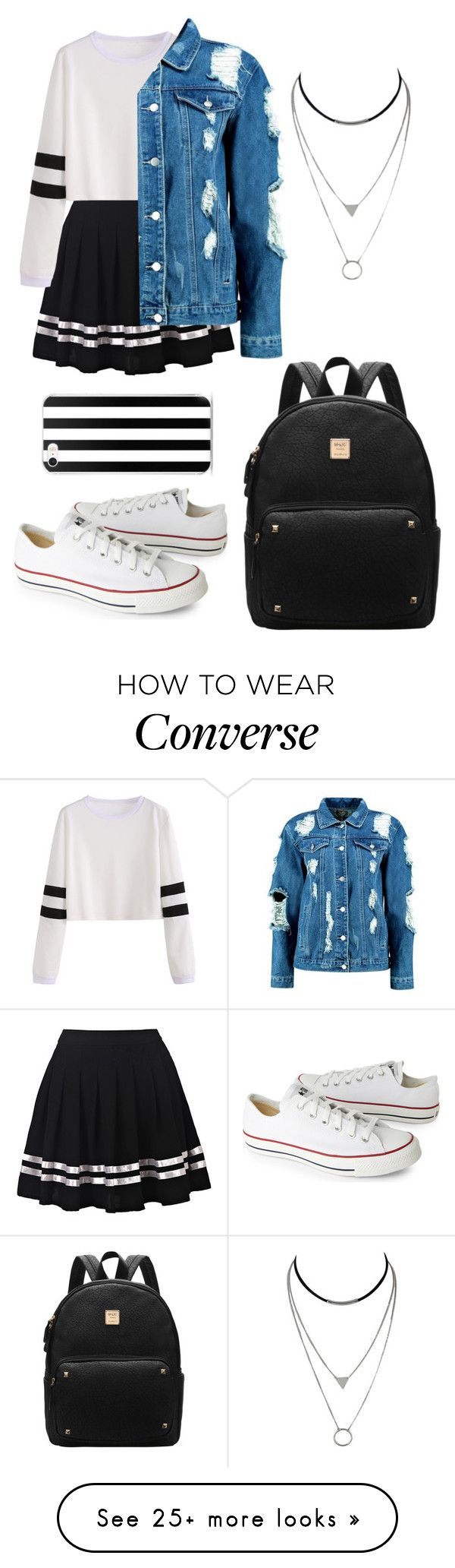 """Untitled #860"" by samantha1-a on Polyvore featuring Boohoo and Converse"