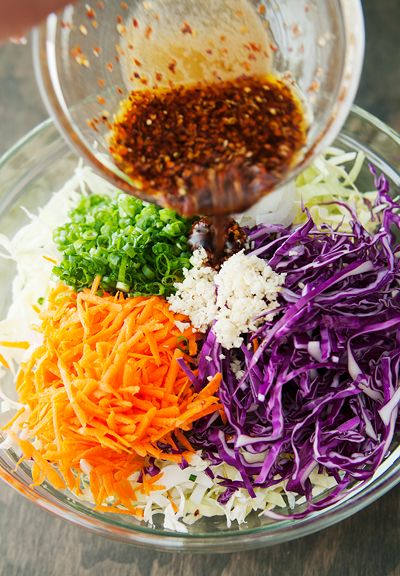I made the coleslaw portion of this recipe last night and it's a keeper.   korean barbecue pork lettuce wrap recipe | use real butter