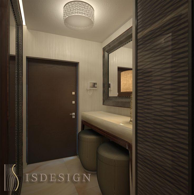 Прихожая - дизайн проект интерьера четырехкомнатной квартиры в Праге. Архитектор-дизайнер Инна Войтенко.