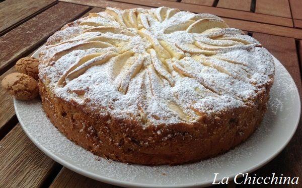 La Chicchina: Torta di mele e amaretti ubriachi #torta ##cake #mele #apple